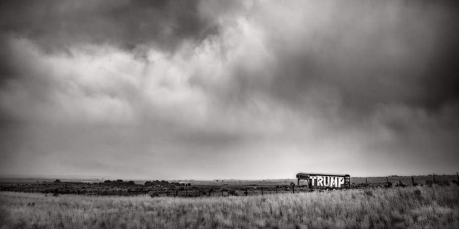 Trump, I-80, Wyoming