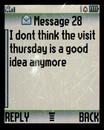 I dont think text, February 2009