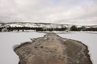 Firehole River in Winter, Upper Geyser Basin
