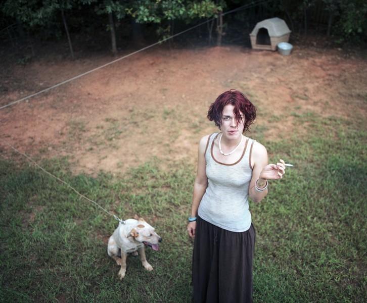Amy in her Backyard,  2005