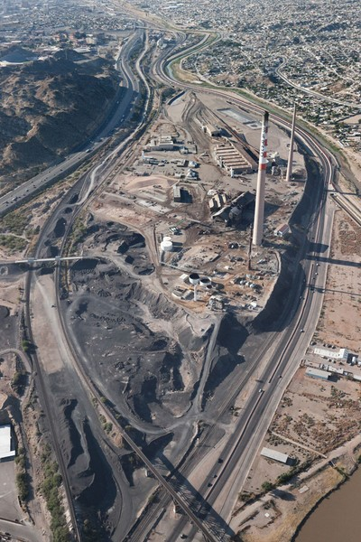 ASARCO El Paso aerial view west to east