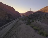 Western approach from the Union Pacific line