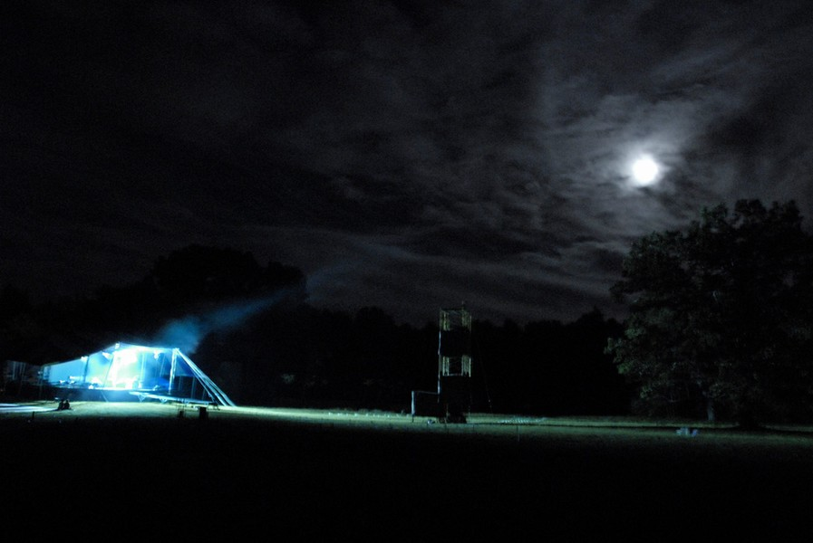 K.C., Night Stage lights under full moon, 2006.