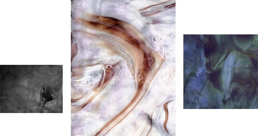 Of Coral Bones, 2012. Triptych