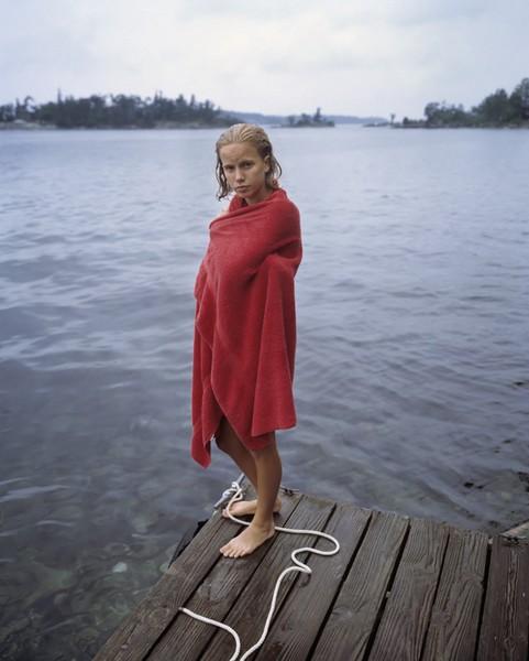 Katie in Red Towel, 1997