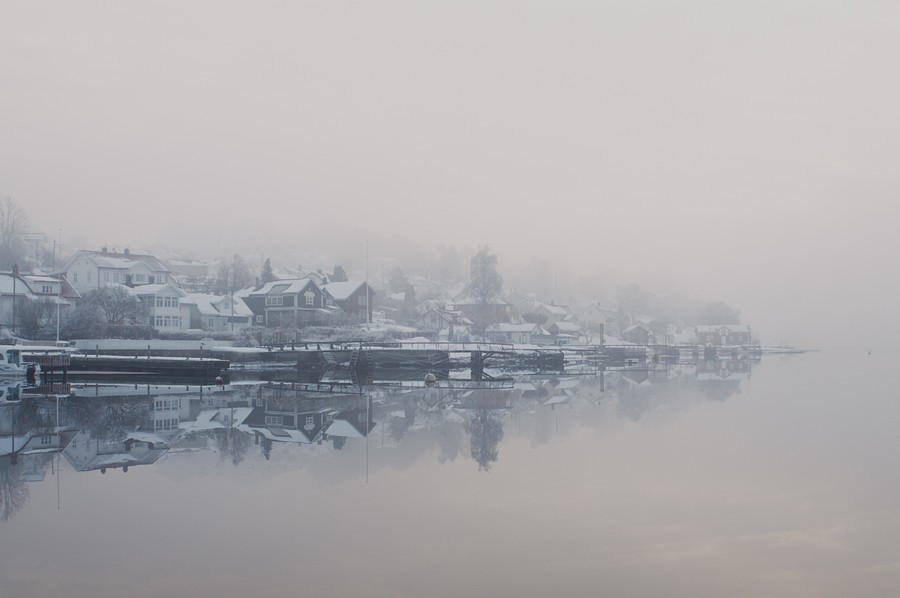 My hometown draped in fog - 2011
