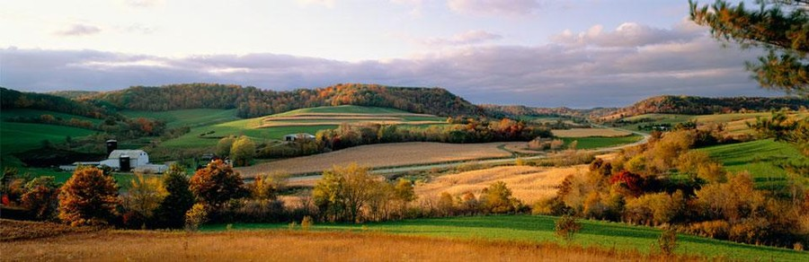 Southwest Wisconsin Farm Landscape