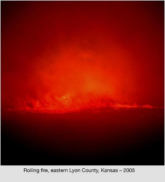 Roiling fire, Lyon County Kansas