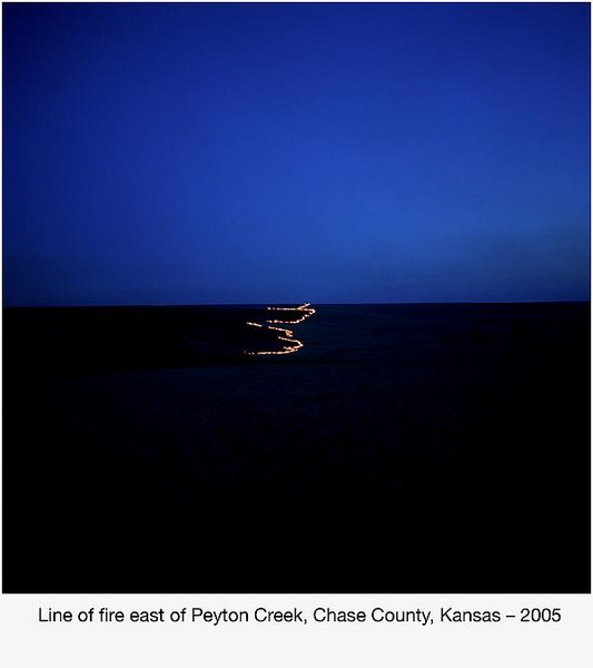 Line of fire east of Peyton Creek, Chase County