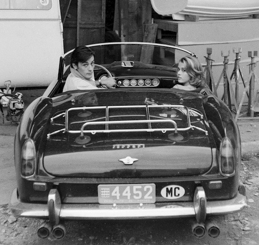Alain Delon and Jane Fonda. Antibes 1964
