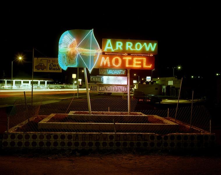 Arrow Motel sign, Espanola, New Mexico, 1982