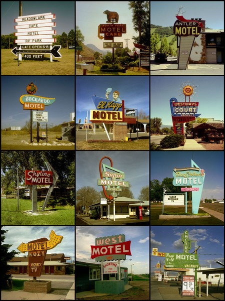 Motel signs, 1980 to 2007