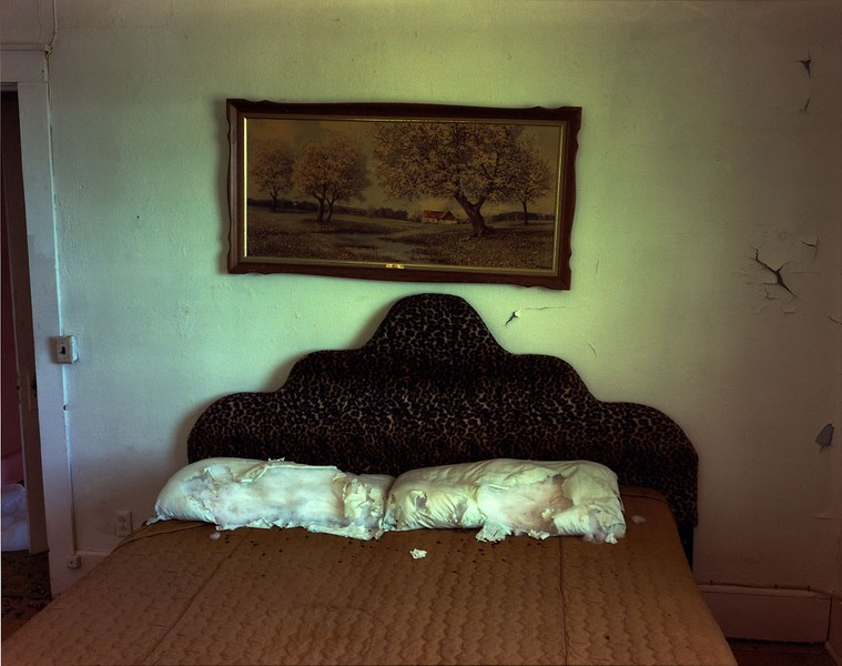 Bedroom in a house in Ancho, Eastern New Mexico, May 14, 2000