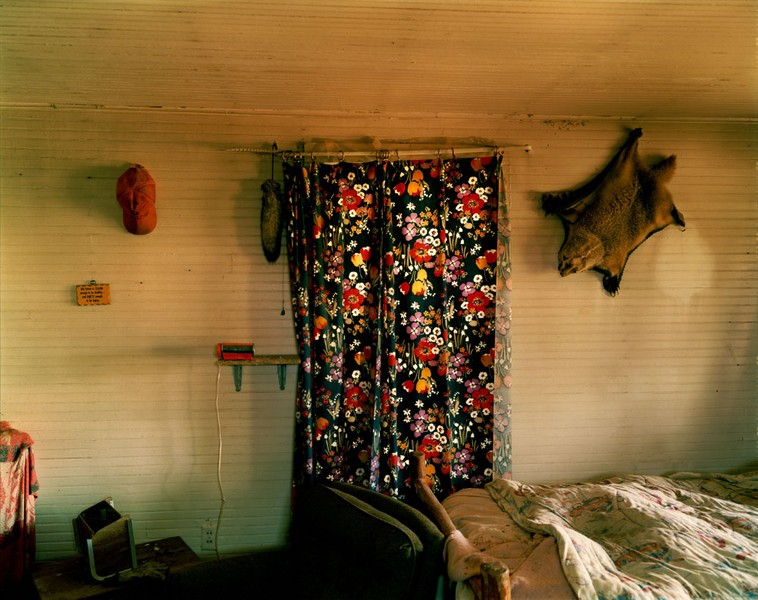 Bedroom in a house in Grassy Butte, western North Dakota, May 17, 2001