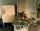 Kitchen in a house near Regent, western North Dakota, May 18, 2001
