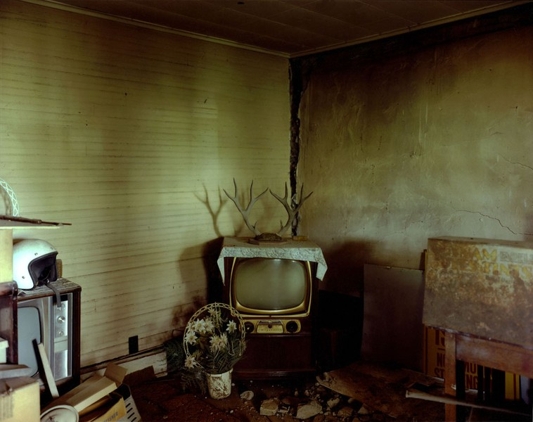 Living room in a house near Ludlow, eastern Colorado, July 6, 1999