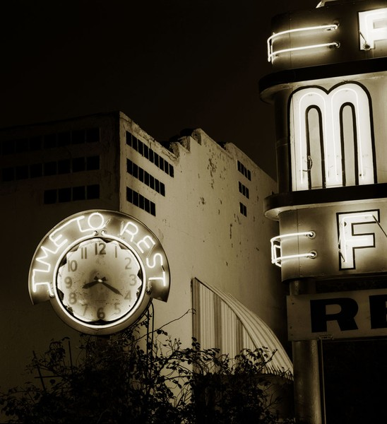Motel, Highway 66, Elk City, Oklahoma, 1974?