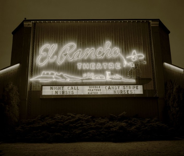 Drive-in theater, Dalhart, Texas, 1974