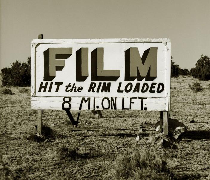 Billboard, Highway 180, Grand Canyon, Arizona, 1972