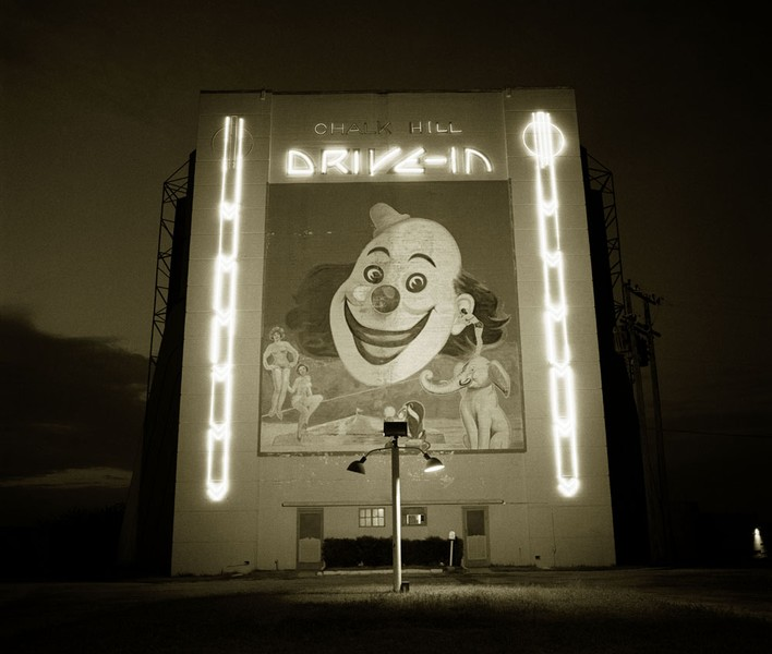 Chalk Hill Drive-in theater, Highway 80, Dallas, Texas, 1973