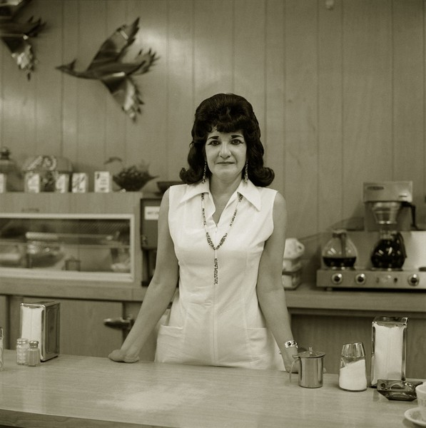 Truckstop waitress, Highway 66, Gallup, New Mexico, 1972