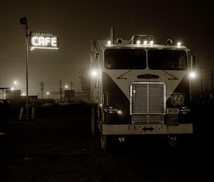 Truckstop, Highway 58, Bakersfield, California, 1972