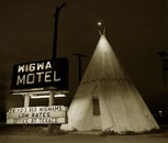 Motel, Highway 66, Holbrook, Arizona, 1973