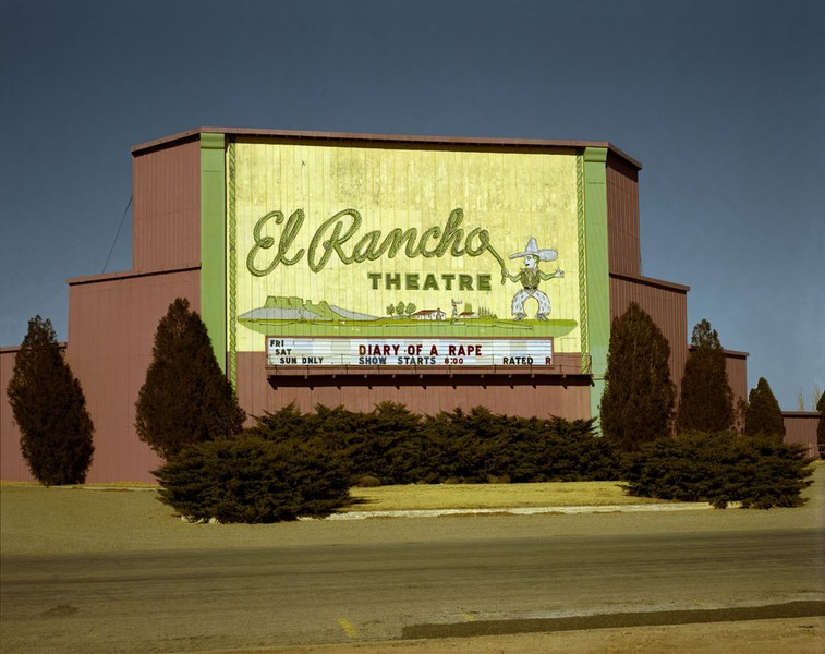 El Rancho Drive-in theater, Dalhart, Texas, January 9, 1981