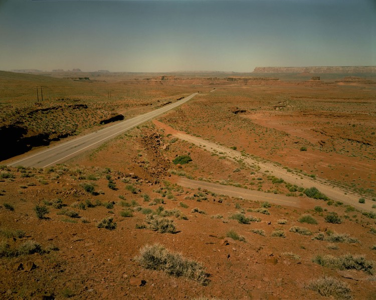 Three highways between Mexican Hat and Bluff, Utah, June 18, 1983