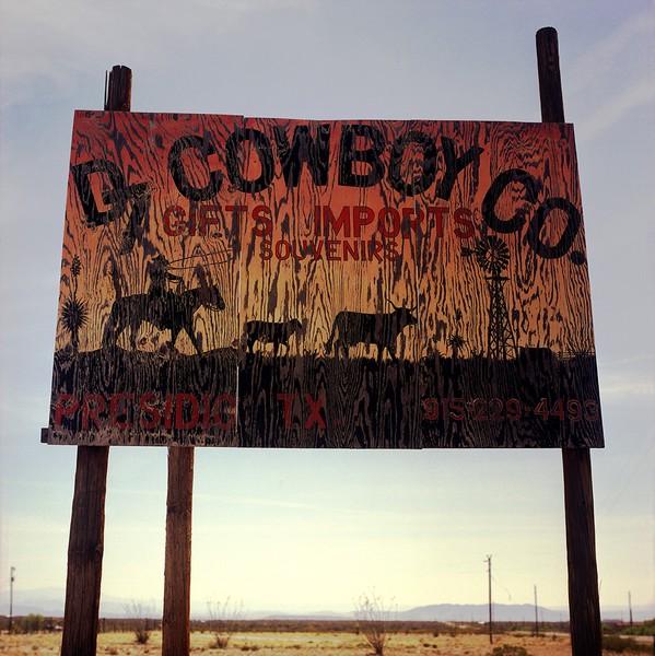 Plywood sign near Presidio, TX, March 2, 2006