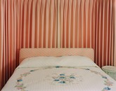 Peach bedroom, home of a former Illinois Governor