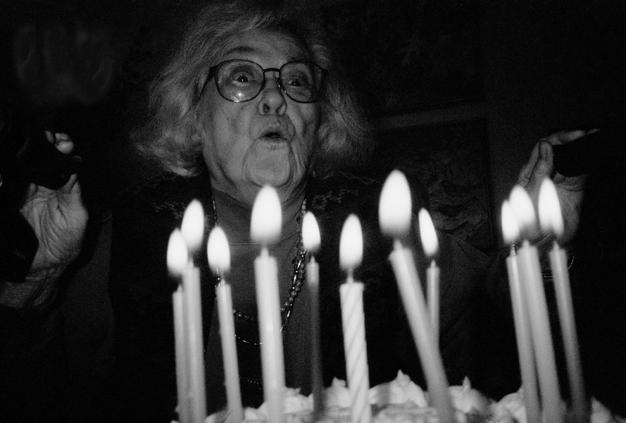 Jessie Landecker, her 86th birthday, 2006
